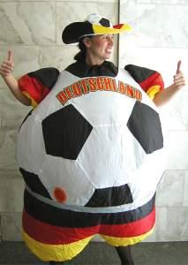 Fussball Kostum Aufblasbar Halloween Karneval Kostume